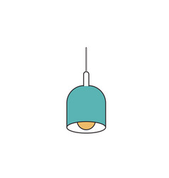 Silhouette color sections of pendant lamp vector