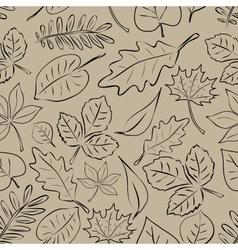 Simple autumn leaf seamless pattern eps10 vector