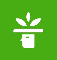 simple farmer figure logo vector image
