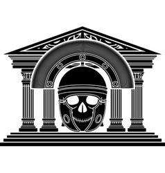skull of roman centurion vector image