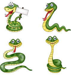 snake collection set vector image