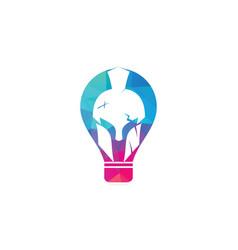 Spartan bulb shape concept logo vector