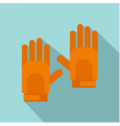 sport gloves icon flat style vector image
