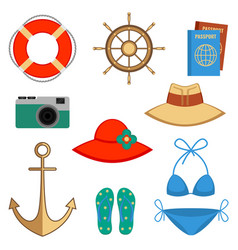 Summer holidays accessories vector