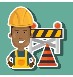 Under construction worker vector