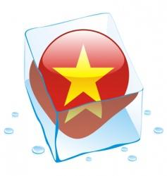 Vietnam flag vector image vector image