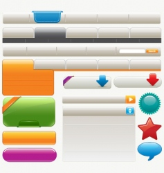 website design materials vector image