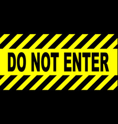 Yellow and black do not enter sign vector