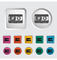 Audiocassette single icon vector image