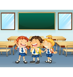 Happy students vector image vector image