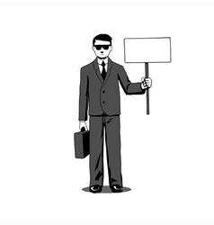 Lawyer with signboard vector image vector image