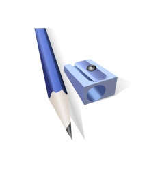 pencil and pencil sharpener vector image
