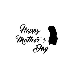 woman s silhouette mothers day greeting card vector image vector image