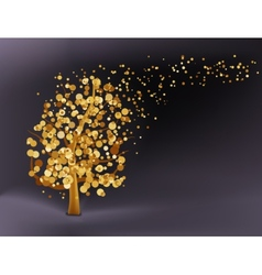 Abstract gold background EPS 8 vector image vector image