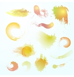 Abstract watercolor blots vector image