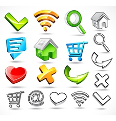 computer symbols and icons vector image vector image