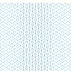 Cyan isometric grid with vertical guideline vector image