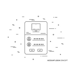 Log in page vector image vector image