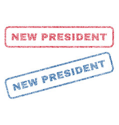 new president textile stamps vector image vector image