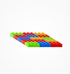 plastic building blocks vector image