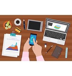 Work activity vector image vector image