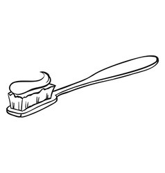 A toothbrush vector image