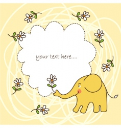 baby greeting card vector image vector image