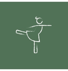 Female dancer icon drawn in chalk vector image vector image