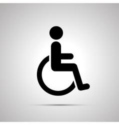 Disabled handicap simple black icon vector image