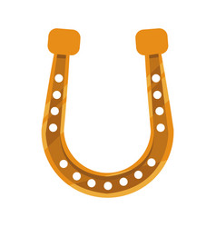 golden horseshoe icon vector image