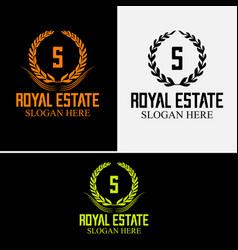 luxurious royal logo vector image vector image