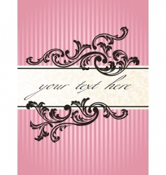 romantic French banner vector image vector image