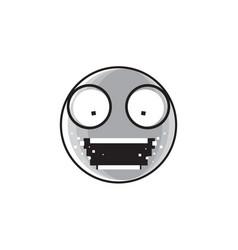 sad cartoon face shocked screaming negative people vector image vector image