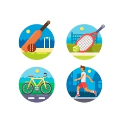 Set of sport icons vector image