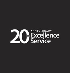 20 year anniversary excellence service template vector