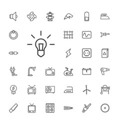 33 electric icons vector