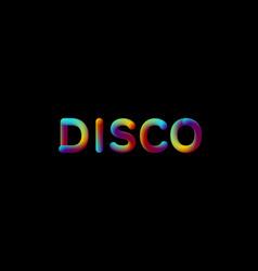 3d iridescent gradient disco sign vector