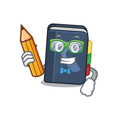 A picture student phone book character holding vector