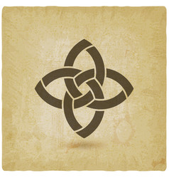 abstract intertwining symbol vintage background vector image