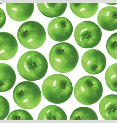 apple green pattern vector image