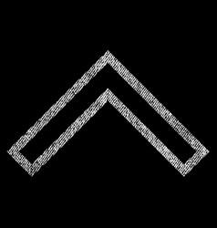 Arrowhead up fabric textured icon vector
