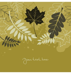 autumn background with leafs vector image