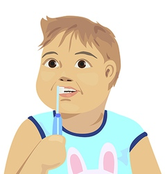 baby brush teeth vector image