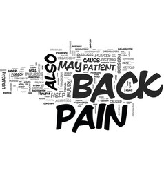 Back pain its types and treatments text word vector