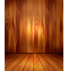 Background with wooden wall and a wooden floor vector