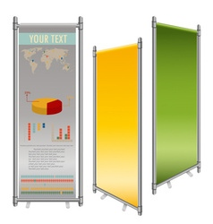 blank roll up banner display template for vector image