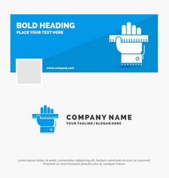 blue business logo template for education hand vector image