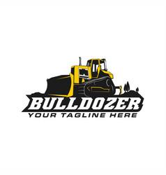 Bulldozer logo vector