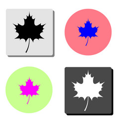 canadian maple leaf flat icon vector image