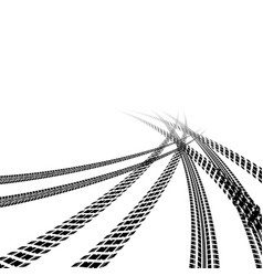 car tire tracks perspective background vector image